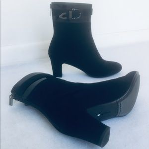Aquatalia Black Suede Ankle Boots